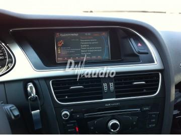 Установка штатного головного устройства в Audi A4