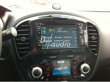 Установка штатного головного устройства в Nissan Juke