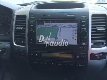 Установка штатного головного устройства в Toyota Prado