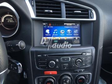 Установка штатного головного устройства в Citroen DS4