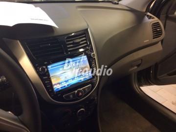 Установка штатного головного устройства в Hyundai Solaris