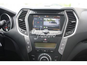 Установка штатного головного устройства в Hyundai Santa fe 2013